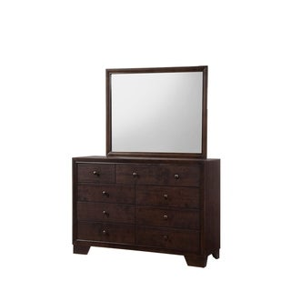 Noma 9-Drawer Dresser in Dark Merlot Finish