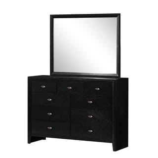Carolina 9-Drawer Dresser in Black Finish