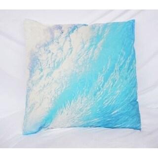 Wave Foam - Blue - Cotton Throw Pillow