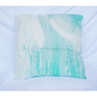 Drip Paint - Yucca - Cotton Throw Pillow