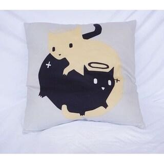 Good Cat Bad Cat - Cotton Throw Pillow