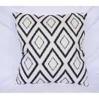 Blurred Diamond - Black - Cotton Throw Pillow