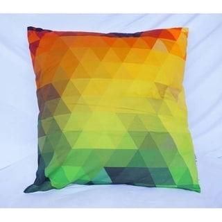 Pixelated - Rainbow - Cotton Throw Pillow