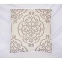 Fleur-de-lis - Silver - Cotton Throw Pillow