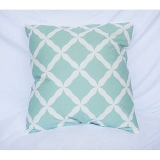 Quatrefoil - Calm Mint - Cotton Throw Pillow