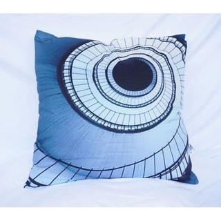 Spiral Stairs - Nightfall Navy - Cotton Throw Pillow