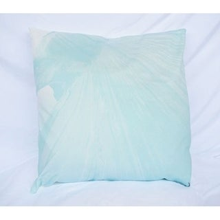 Mountaintop - Bleached Aqua - Cotton Throw Pillow