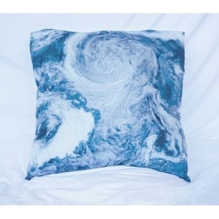 View From Space - Ocean Depths Teal - Cotton Throw Pillow