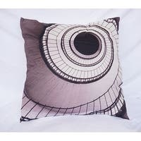 Spiral Stairs - Gray - Cotton Throw Pillow