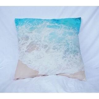 Shop Beach Shores Aqua Cotton Throw Pillow Free