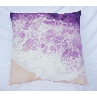 Beach Shores - Purple Reign - Cotton Throw Pillow