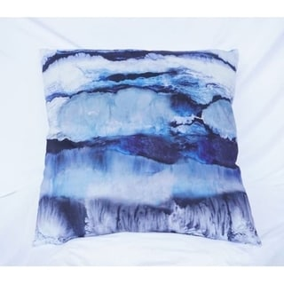 Ocean Layers - Blue - Cotton Throw Pillow