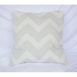 Chevron Stripes - Glacier Gray - Cotton Throw Pillow