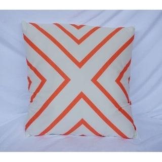 X Marks the Spot - Fusion Coral - Cotton Throw Pillow