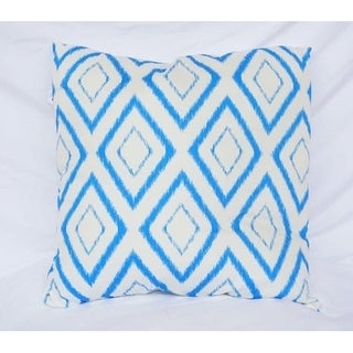 Blurred Diamond - Snorkel Blue - Cotton Throw Pillow