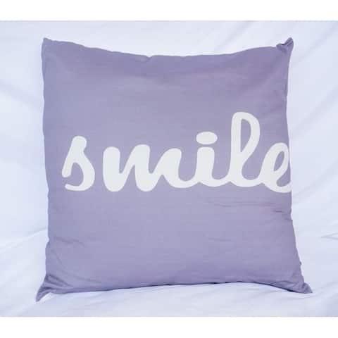 Big Smile - Alloy - Cotton Throw Pillow