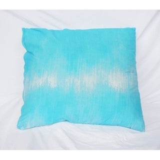 Sound Wave - Aqua - Cotton Throw Pillow