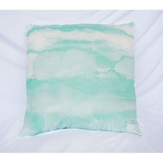 Ocean Layers - Yucca - Cotton Throw Pillow