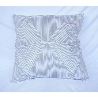 Mirror Image - Alloy - Cotton Throw Pillow