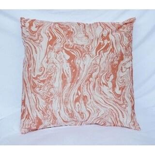 Marble - Copper - Cotton Throw Pillow