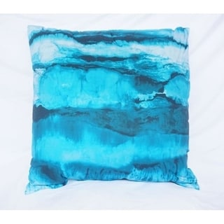 Ocean Layers - Ocean Depths Teal - Cotton Throw Pillow