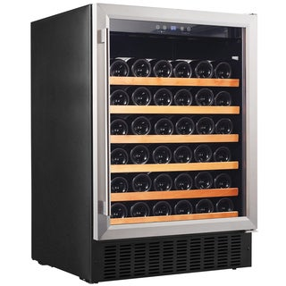 Smith & Hanks 46 Bottle Single Zone Wine Refrigerator, Stainless Steel Door, Built-In or Free Standing