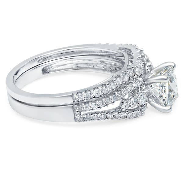 0770846bf2a94 Shop LeZari & Co. 1.50ct TDW Bridal Set with Round Diamonds U Pave ...