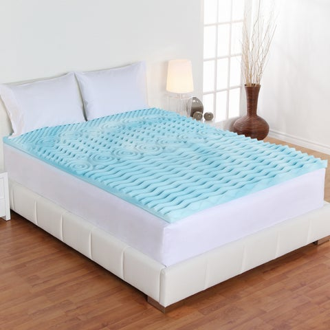 Authentic Comfort 4-inch Comfort Rx 5-Zone Foam Mattress Topper