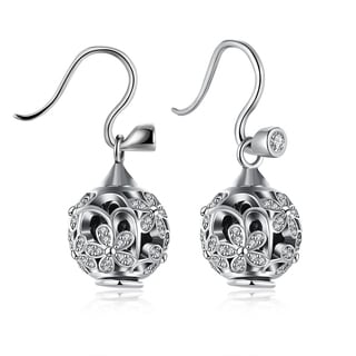 0.925 Sterling Pav'e Daisy Earrings