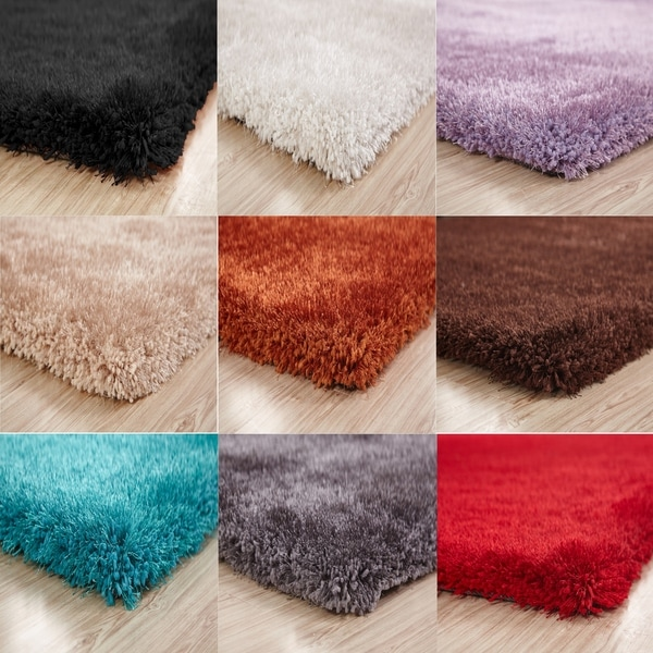 Shop Hand Tufted Solid Color Shag Area Rugs, 2-Inch