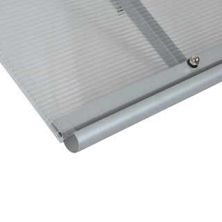 """Outsunny 48"""" x 33"""" Polycarbonate Patio Door Awning"""