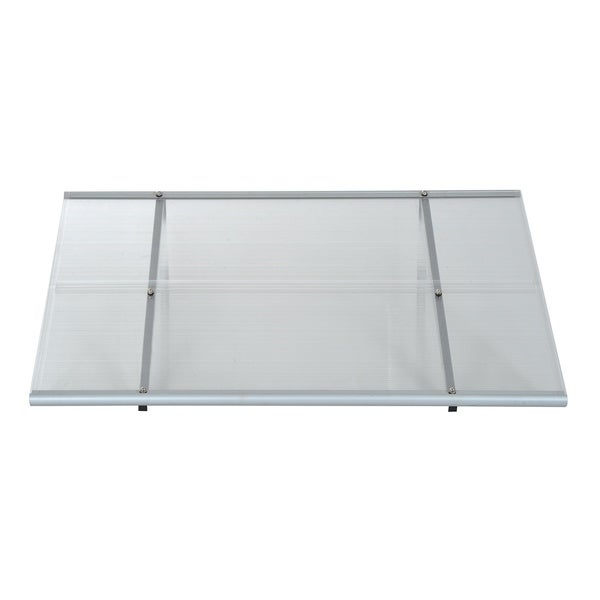 Shop Outsunny 48 X 33 Polycarbonate Patio Door Awning Ships To