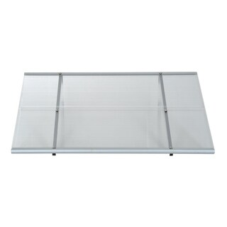 "Outsunny 48"" x 33"" Polycarbonate Patio Door Awning"