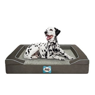 Sealy Quad Element Lux Sherpa Memory Foam Dog Bed