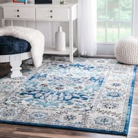 nuLOOM Traditional Persian Fancy Aqua Area Rug - 6'7 x 9'