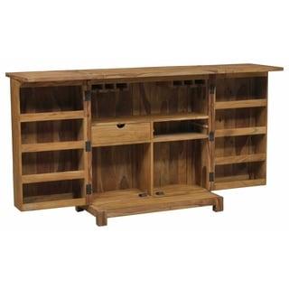 Wanderloot Urban Mid-Century Modern Bar Cabinet, Brown