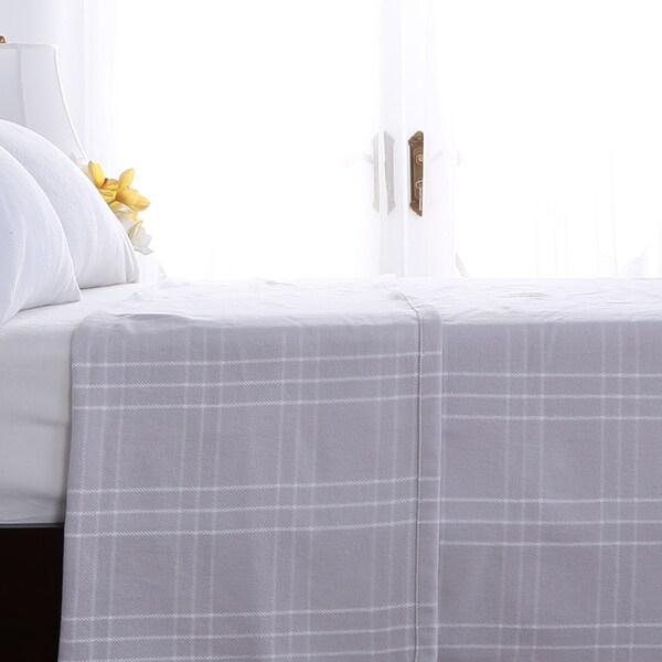 Berkshire Blanket Plaid Cotton Blanket
