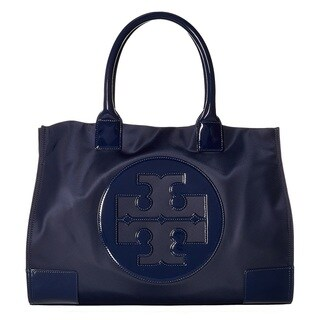 Tory Burch Nylon Ella French Navy Tote Bag