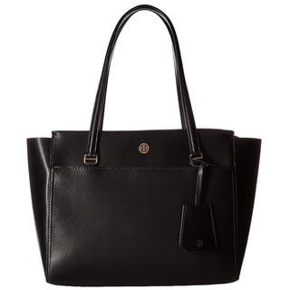 Tory Burch Parker Black/Cardamom Small Tote Bag