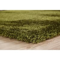 Green Color Shag Hand Tufted Rugs with 2-Inch Thickness Height - 5' x 7'