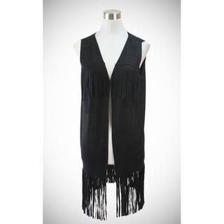 Le Nom Light weight long faux suede vest