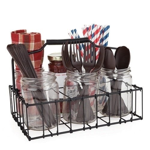 Country Home™ Patio Silverware Caddy by Twine, Multi