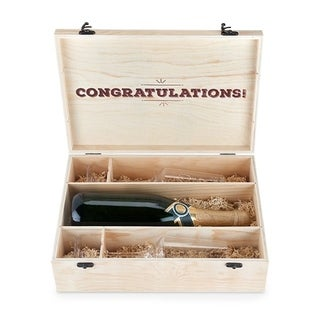 Marketplace Wooden Champagne Gift Box by Twine