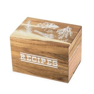 Pantry: Herb Garden Wood Recipe Box by Twine®