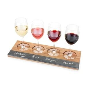 Rustic Farmhouse™ Acacia Wood Wine Flight Board by Twine