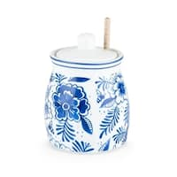 Pantry: Indigo Floral Honey Jar by Twine