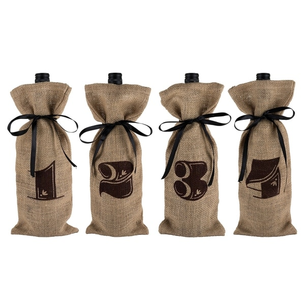Marketplace - Jute Bag Wine Tasting Kit by Twine