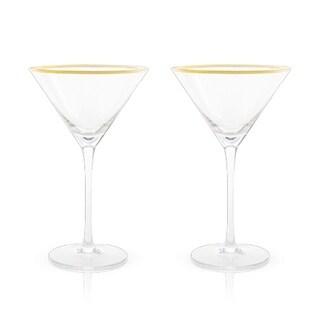 Belmont: Gold & Crystal Martini Glasses (VISKI)