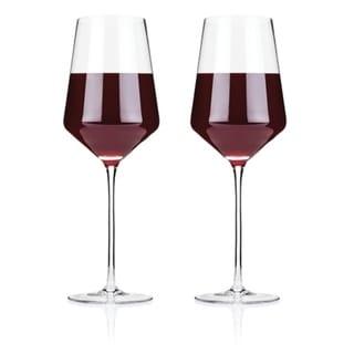Raye Crystal Bordeaux Glasses (Set of 2) by Viski. Opens flyout.