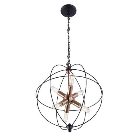 Aztec Lighting Transitional 6-light Bronze/Brass Pendant